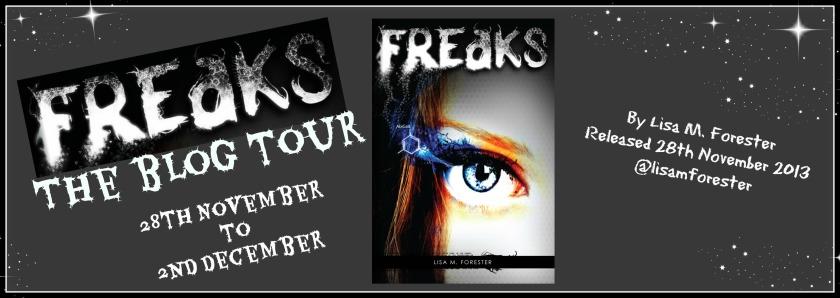 FREAKS blog tour banner